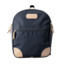 Load image into Gallery viewer, Backpack front view in Color 'Charcoal Coated Canvas'