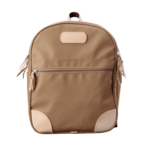Backpack front view in Color 'Saddle Coated Canvas'