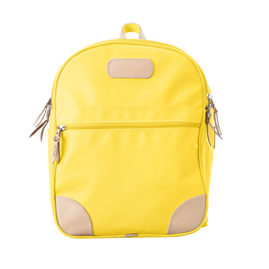 Backpack front view in Color 'Lemon Coated Canvas'