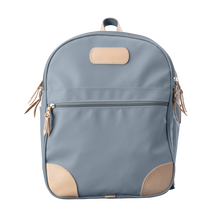 Load image into Gallery viewer, Backpack front view in Color 'Slate Coated Canvas'