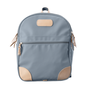 Backpack front view in Color 'Slate Coated Canvas'