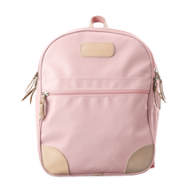 Load image into Gallery viewer, Backpack front view in Color 'Rose Coated Canvas'