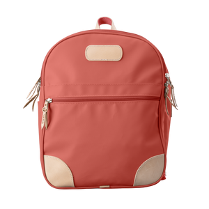 Backpack front view in Color 'Coral Coated Canvas'