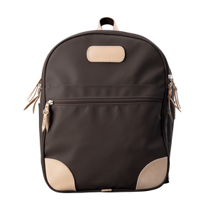 Backpack front view in Color 'Espresso Coated Canvas'