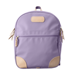 Backpack front view in Color 'Lilac Coated Canvas'