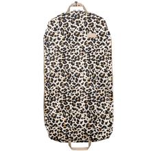 "Load image into Gallery viewer, 50"" Garment Bag - Leopard Coated Canvas Front Angle in Color 'Leopard Coated Canvas'"