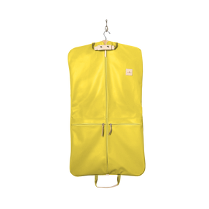 Two-Suiter - Lemon Coated Canvas Front Angle in Color 'Lemon Coated Canvas'