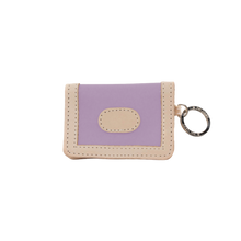 Load image into Gallery viewer, ID Wallet - Lilac Coated Canvas Front Angle in Color 'Lilac Coated Canvas'