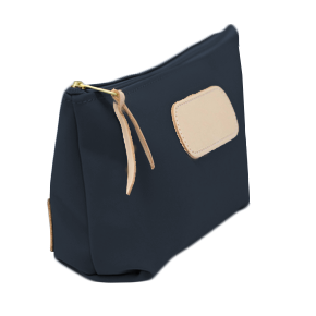 Grande - Navy Coated Canvas Front Angle in Color 'Navy Coated Canvas'