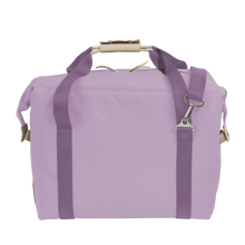 Load image into Gallery viewer, Large Cooler - Lilac Coated Canvas Front Angle in Color 'Lilac Coated Canvas'