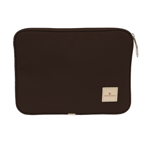 "13"" Computer Case - Espresso Coated Canvas Front Angle in Color 'Espresso Coated Canvas'"