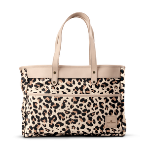 Bebita - Leopard Coated Canvas Front Angle in Color 'Leopard Coated Canvas'
