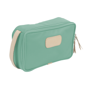 Small Travel Kit - Mint Coated Canvas Front Angle in Color 'Mint Coated Canvas'