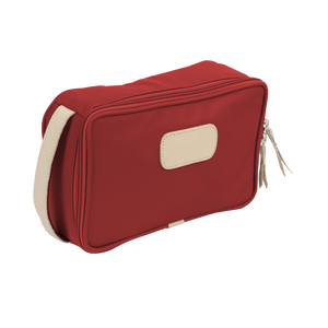 Small Travel Kit - Red Coated Canvas Front Angle in Color 'Red Coated Canvas'
