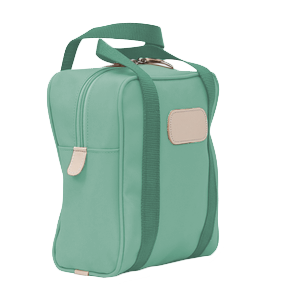 Shag Bag - Mint Coated Canvas Front Angle in Color 'Mint Coated Canvas'