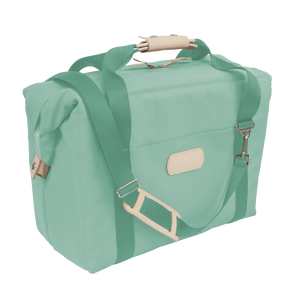 Large Cooler - Mint Coated Canvas Front Angle in Color 'Mint Coated Canvas'