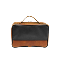 Load image into Gallery viewer, JH Dopp Kit - Smoke Canvas Front Angle in Color 'Smoke Canvas'