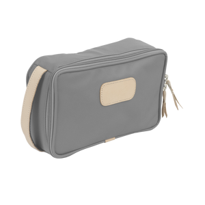 Small Travel Kit - Slate Coated Canvas Front Angle in Color 'Slate Coated Canvas'