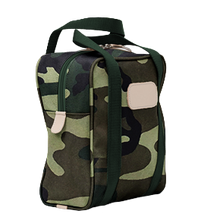 Load image into Gallery viewer, Shag Bag - Classic Camo Coated Canvas Front Angle in Color 'Classic Camo Coated Canvas'