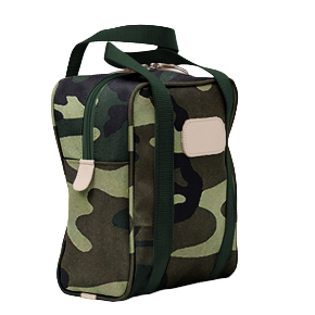 Shag Bag - Classic Camo Coated Canvas Front Angle in Color 'Classic Camo Coated Canvas'
