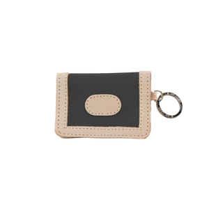 ID Wallet - Charcoal Coated Canvas Front Angle in Color 'Charcoal Coated Canvas'