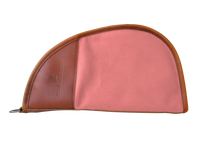 Load image into Gallery viewer, Large Revolver Case Front Angle in Color 'Rose Coated Canvas'