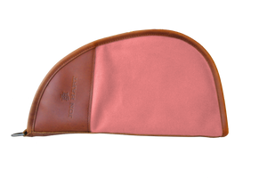 Large Revolver Case Front Angle in Color 'Rose Coated Canvas'