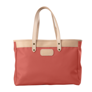 Bebita - Coral Coated Canvas Front Angle in Color 'Coral Coated Canvas'