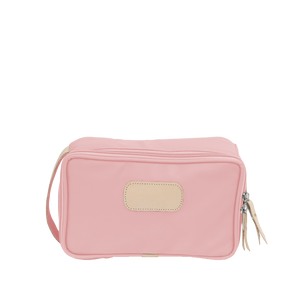 Small Travel Kit Front Angle in Color 'Rose Coated Canvas'