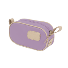 Load image into Gallery viewer, Junior Shave Kit - Lilac Coated Canvas Front Angle in Color 'Lilac Coated Canvas'