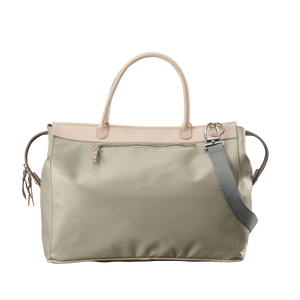 Burleson Bag - Tan Coated Canvas Front Angle in Color 'Tan Coated Canvas'