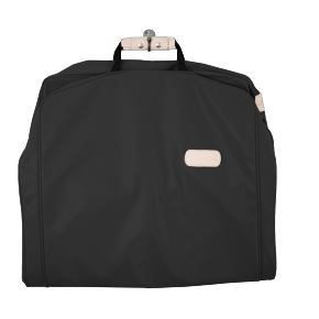 "50"" Garment Bag - Black Coated Canvas Front Angle in Color 'Black Coated Canvas'"