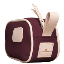 Load image into Gallery viewer, Junior Shave Kit - Burgundy Coated Canvas Front Angle in Color 'Burgundy Coated Canvas'
