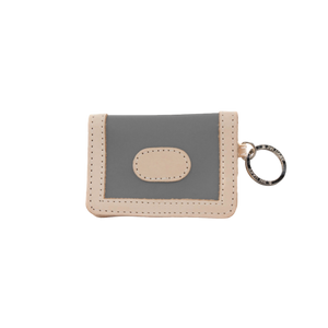 ID Wallet - Slate Coated Canvas Front Angle in Color 'Slate Coated Canvas'