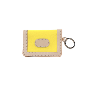 ID Wallet - Lemon Coated Canvas Front Angle in Color 'Lemon Coated Canvas'
