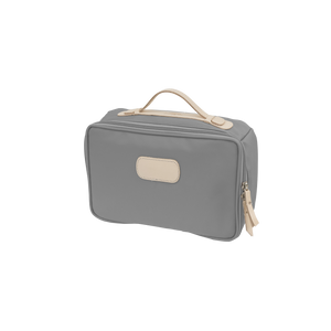 Large Travel Kit - Slate Coated Canvas Front Angle in Color 'Slate Coated Canvas'