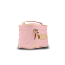 Load image into Gallery viewer, Makeup Case - Rose Coated Canvas Front Angle in Color 'Rose Coated Canvas'