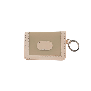 ID Wallet - Tan Coated Canvas Front Angle in Color 'Tan Coated Canvas'