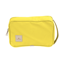 Load image into Gallery viewer, Small Travel Kit - Lemon Coated Canvas Front Angle in Color 'Lemon Coated Canvas'