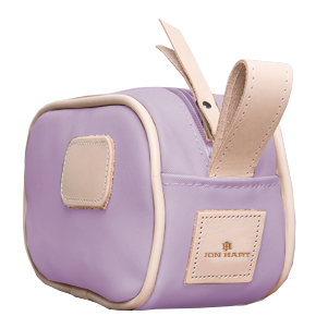 Junior Shave Kit - Lilac Coated Canvas Front Angle in Color 'Lilac Coated Canvas'