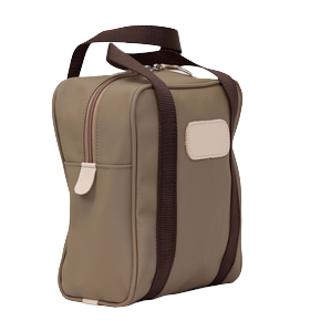 Shag Bag - Saddle Coated Canvas Front Angle in Color 'Saddle Coated Canvas'