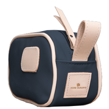 Load image into Gallery viewer, Junior Shave Kit - Navy Coated Canvas Front Angle in Color 'Navy Coated Canvas'