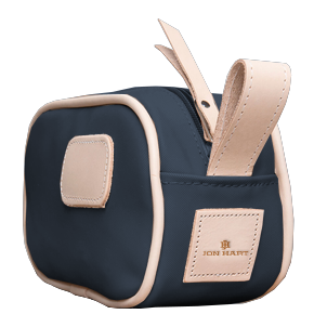 Junior Shave Kit - Navy Coated Canvas Front Angle in Color 'Navy Coated Canvas'