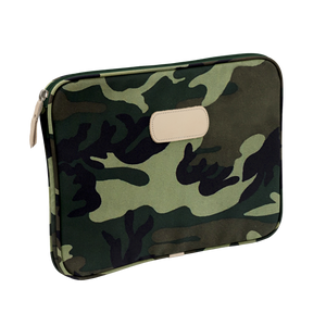 "13"" Computer Case - Classic Camo Coated Canvas Front Angle in Color 'Classic Camo Coated Canvas'"