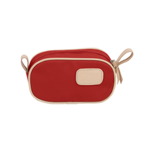 Load image into Gallery viewer, Junior Shave Kit - Red Coated Canvas Front Angle in Color 'Red Coated Canvas'