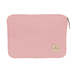 "13"" Computer Case - Rose Coated Canvas Front Angle in Color 'Rose Coated Canvas'"