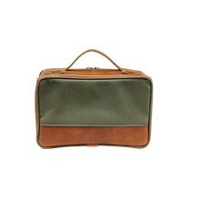 Load image into Gallery viewer, JH Dopp Kit - Canvas Green Front Angle in Color 'Canvas Green'