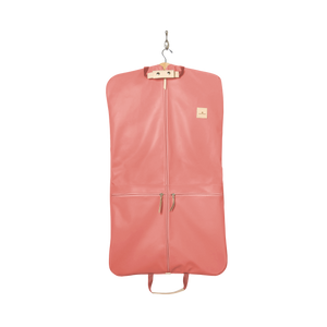Two-Suiter - Coral Coated Canvas Front Angle in Color 'Coral Coated Canvas'