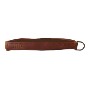 Small Revolver Case - Espresso Coated Canvas Front Angle in Color 'Espresso Coated Canvas'