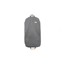 "Load image into Gallery viewer, 50"" Garment Bag - Slate Coated Canvas Front Angle in Color 'Slate Coated Canvas'"